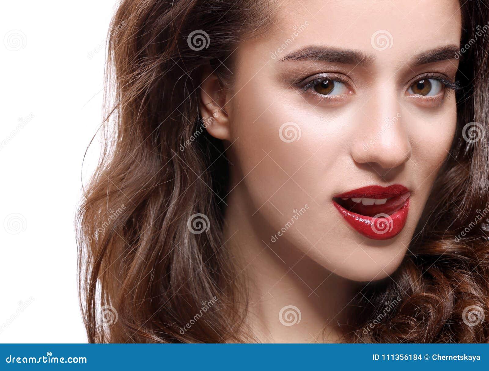 Frau mit den roten Lippen
