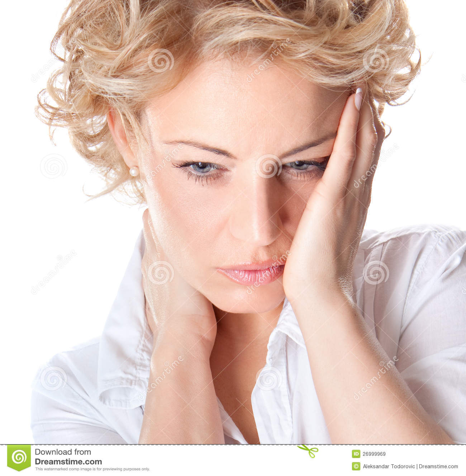 Frau mit den Schmerz in ihrem Stutzen