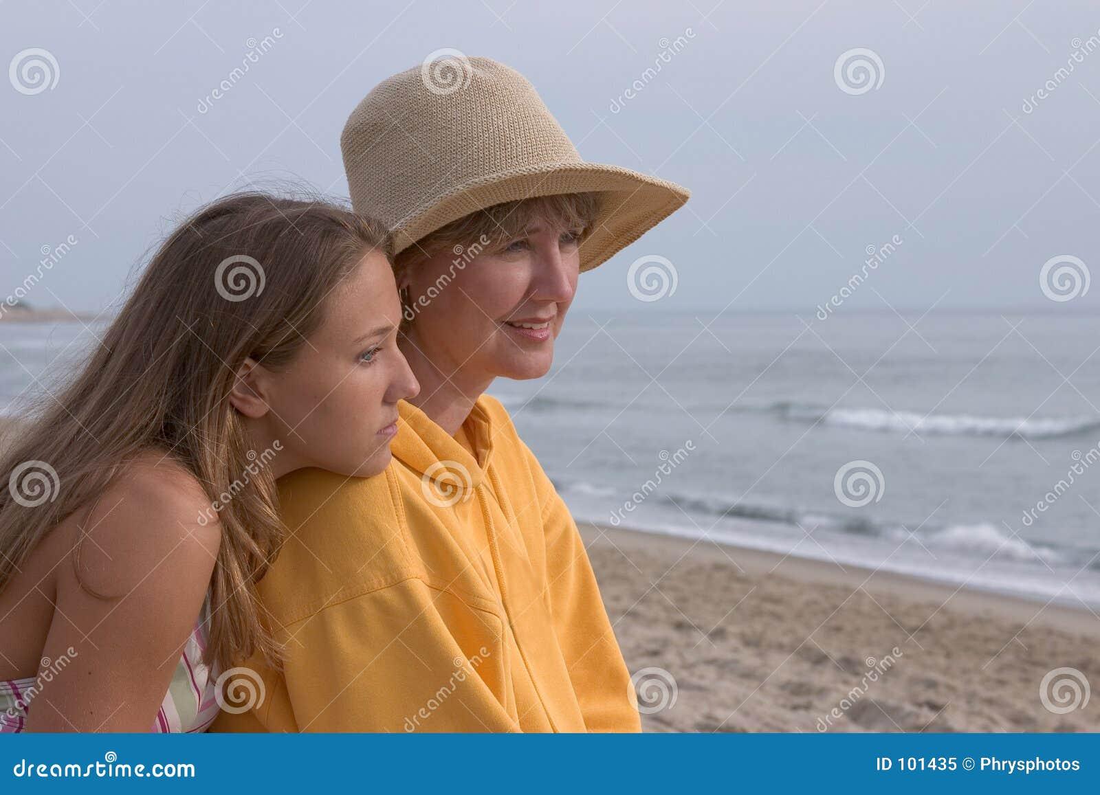 Frau und jugendlich