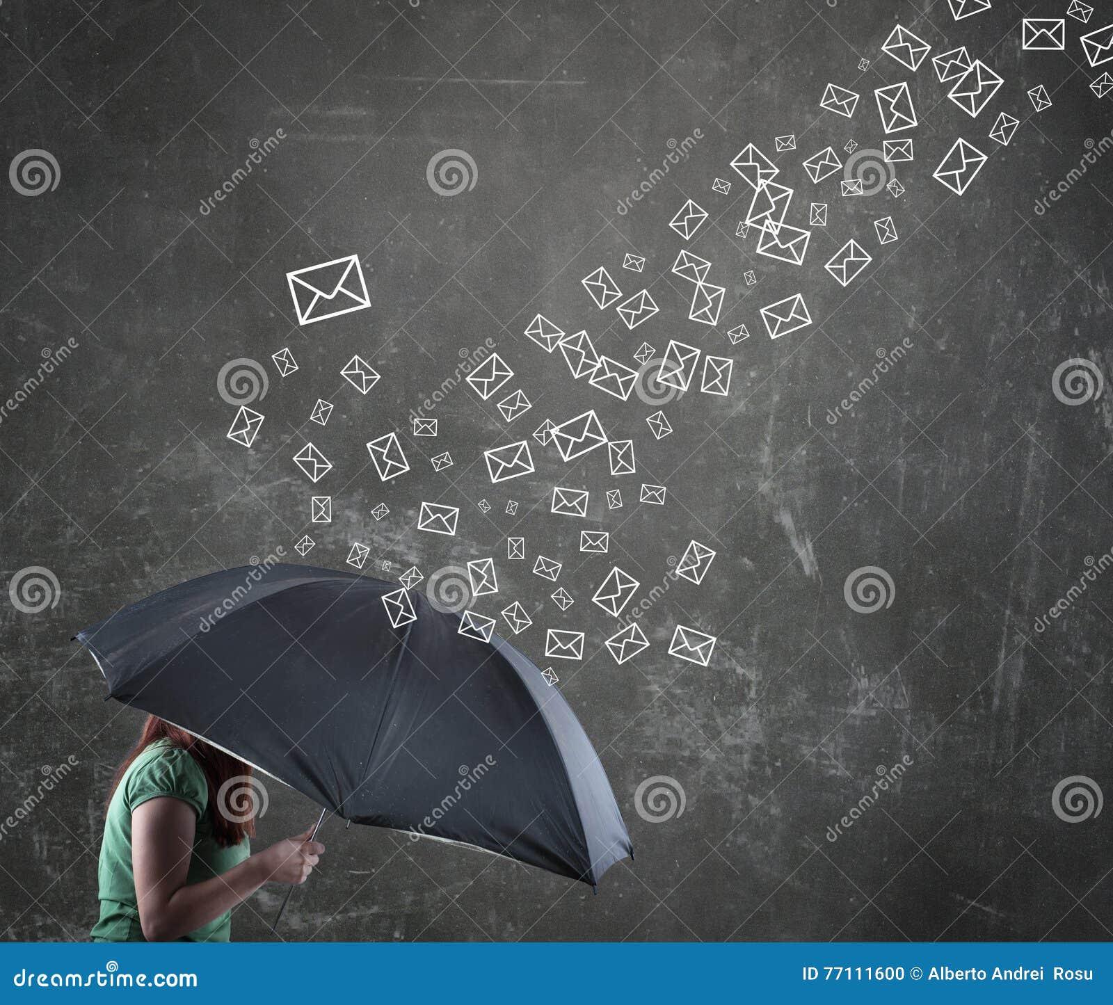 Frau Unter Dem Regenschirm Stock Abbildung Illustration Von