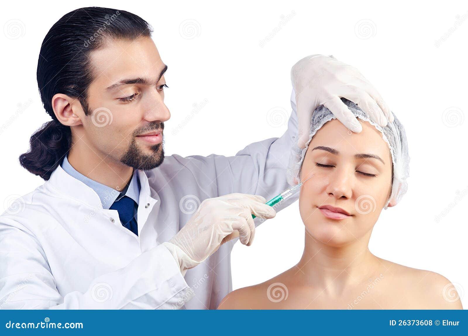 Frau unter der Chirurgie