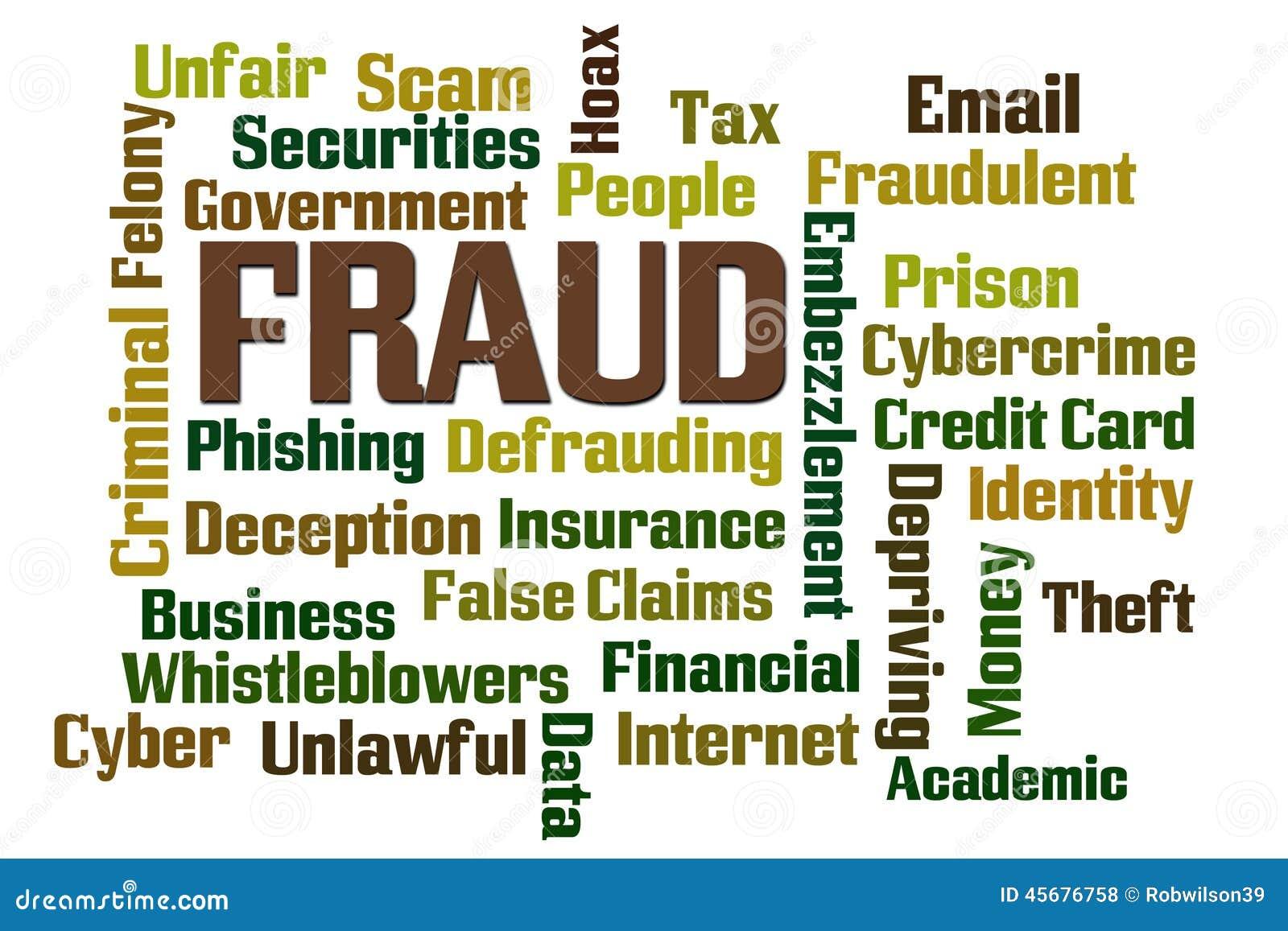 fraud stock photo image