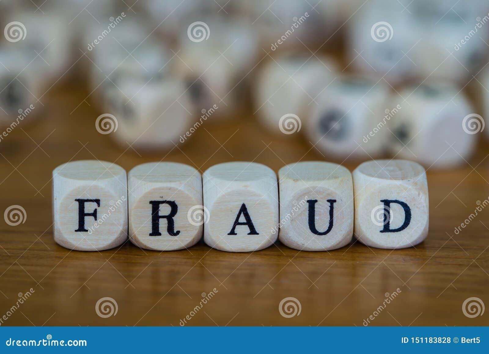 Fraude écrite avec les cubes en bois