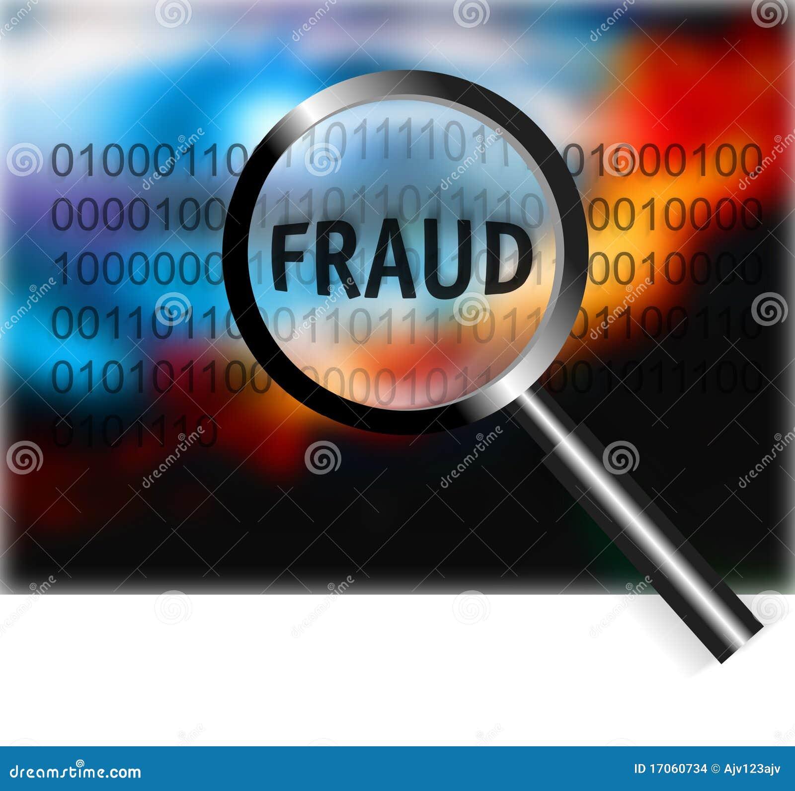 Fraude do foco do conceito da segurança