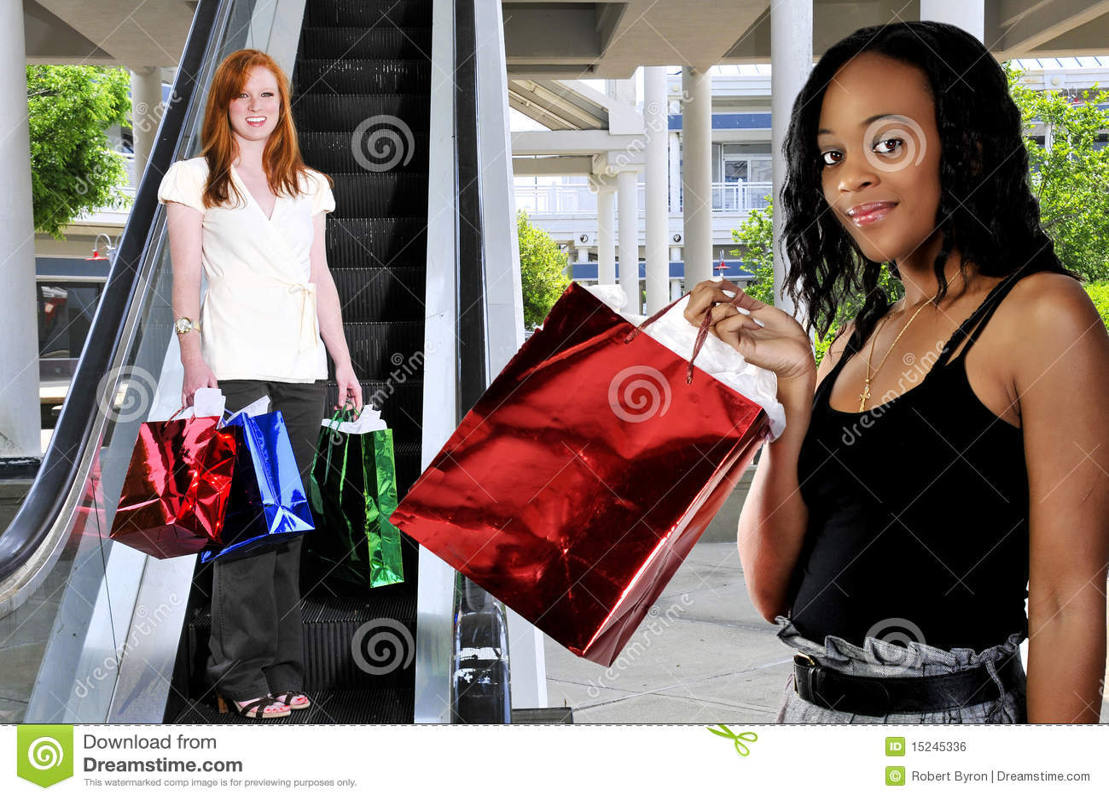 Frauen-Einkaufen-Beutel stockfoto. Bild von beutel