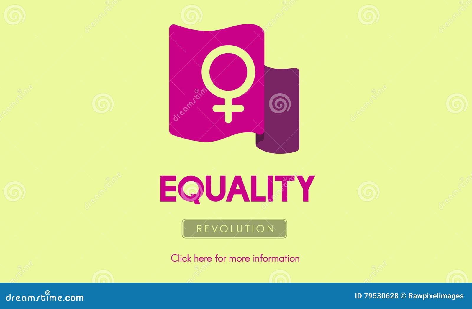 Frauen-Energie-Feminist-Gleichgestelltes berichtigt Konzept