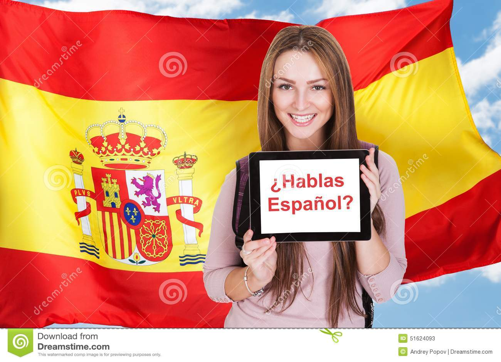 Frauenbitten sprechen Sie Spanisch