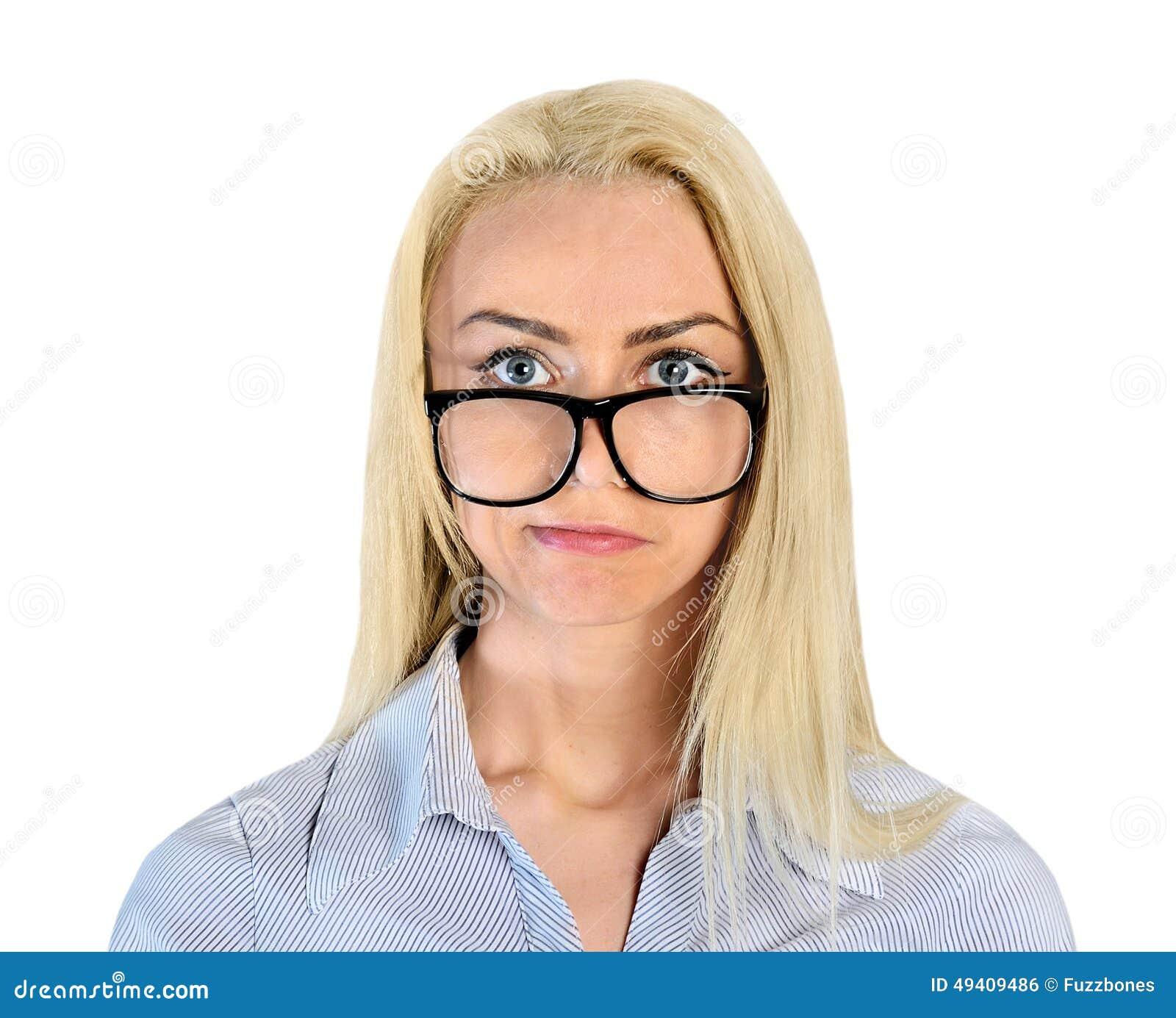 Download Frauendenken stockfoto. Bild von haar, brillen, kopf - 49409486