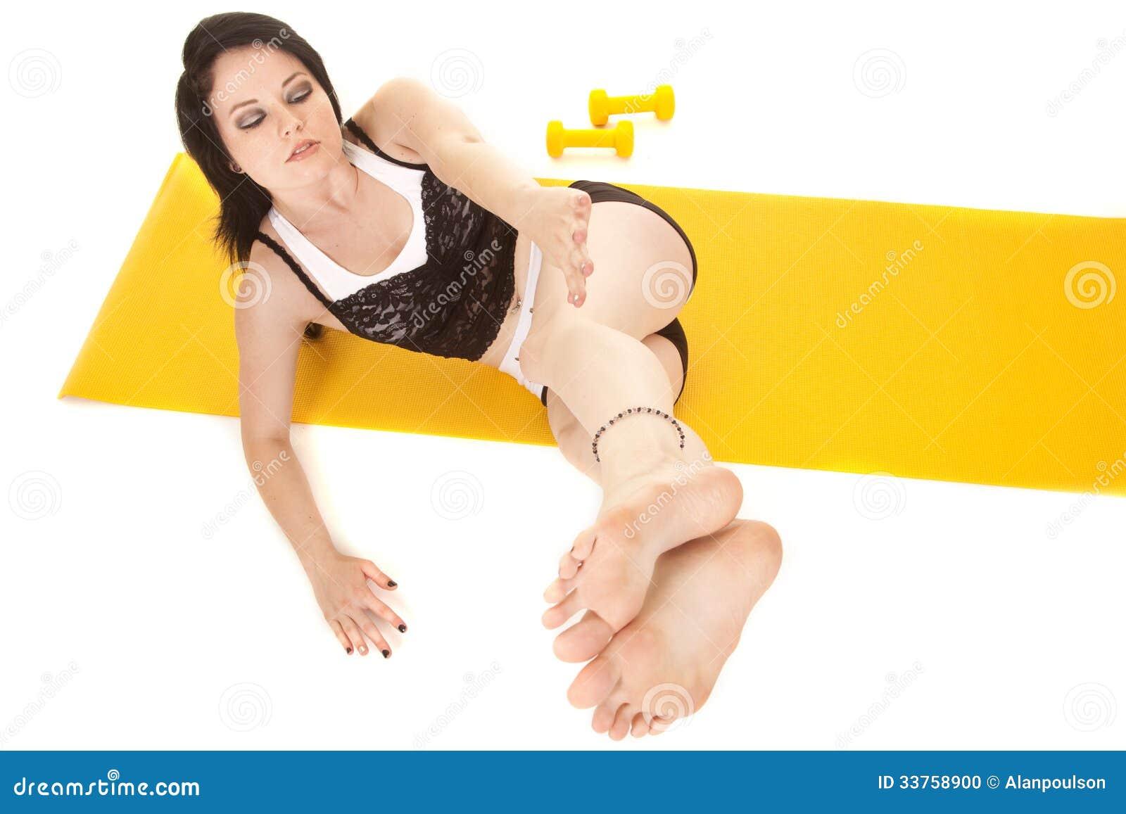 Fraueneignungsgelbmattenlage-Beinseite
