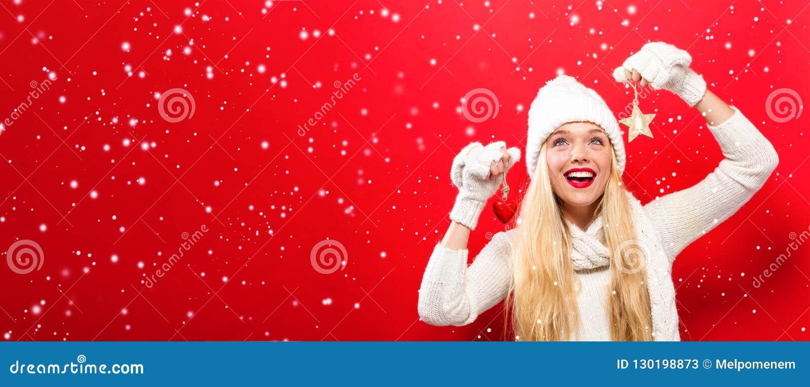 Frauenholding Weihnachtsverzierung