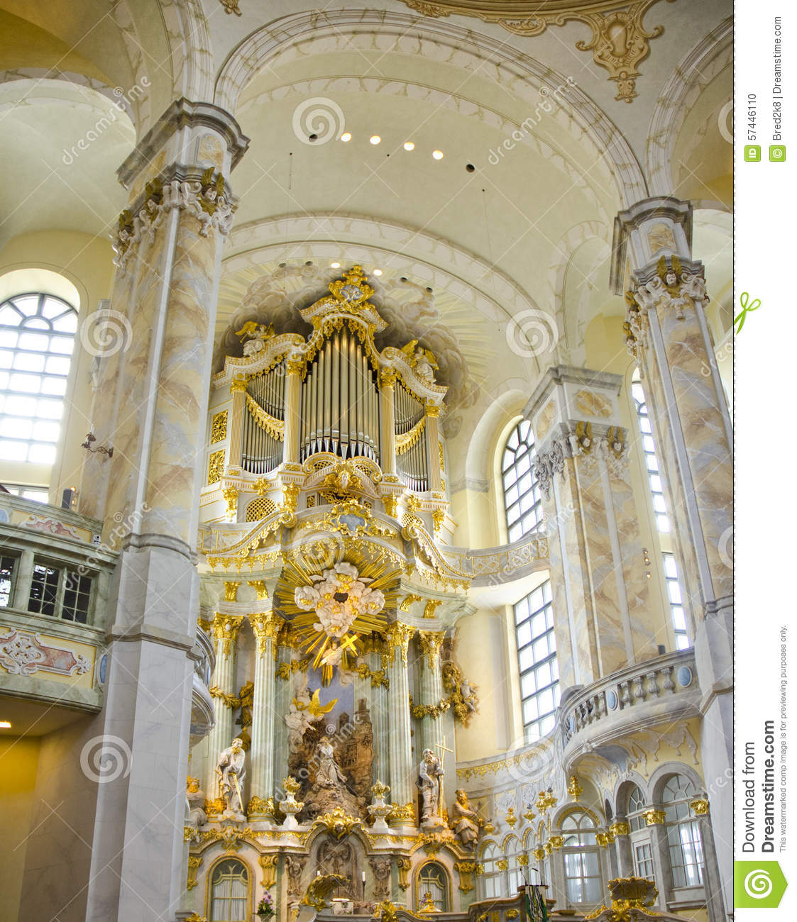 Frauenkirche Cathedral Interior Dresden Germany