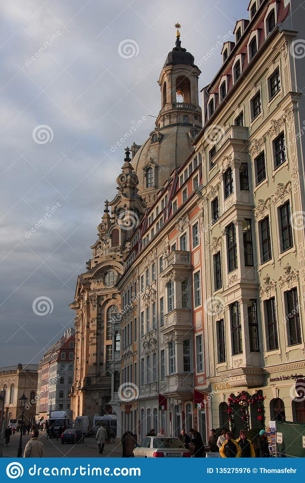 The Frauenkirche in Dresden, Saxony