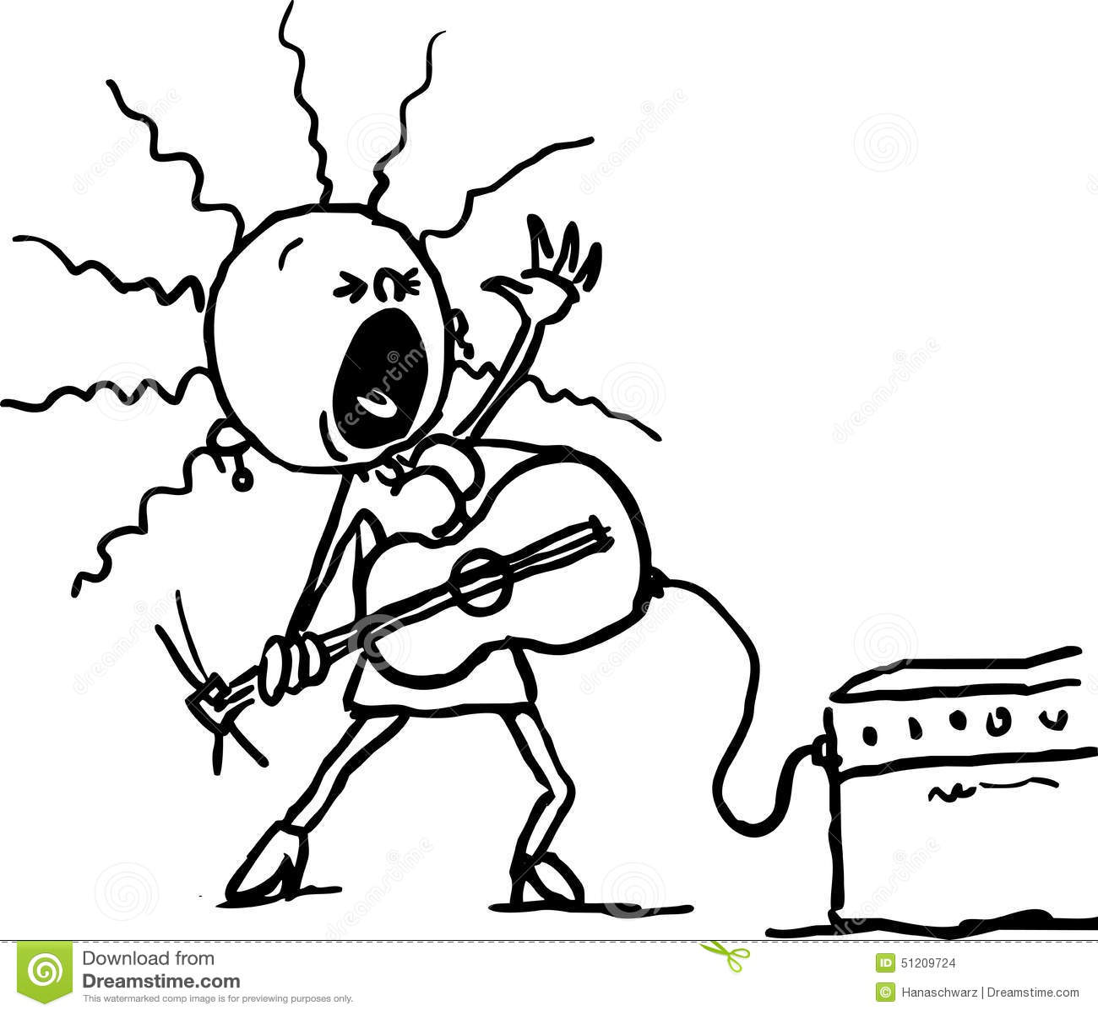 Küchenhaus Schwarz Singen ~ frauenspiel die gitarre und singen schwarze linie vektor