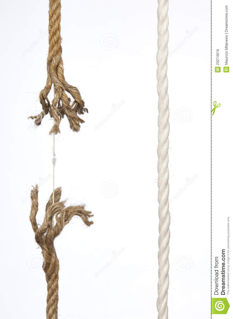 Frayed Power Cord : Frayed rope royalty free stock images image