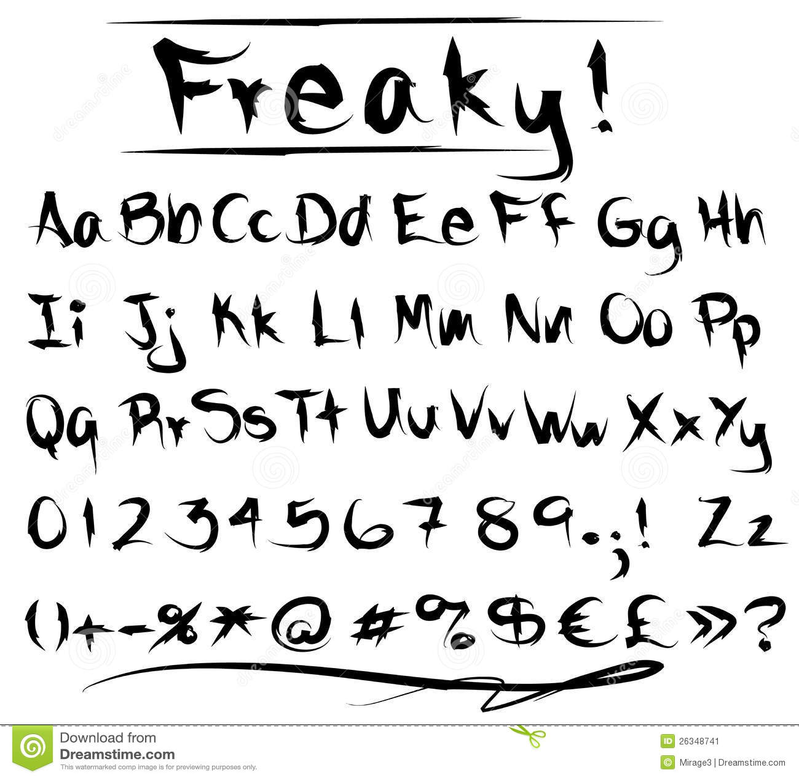 Freaky writing