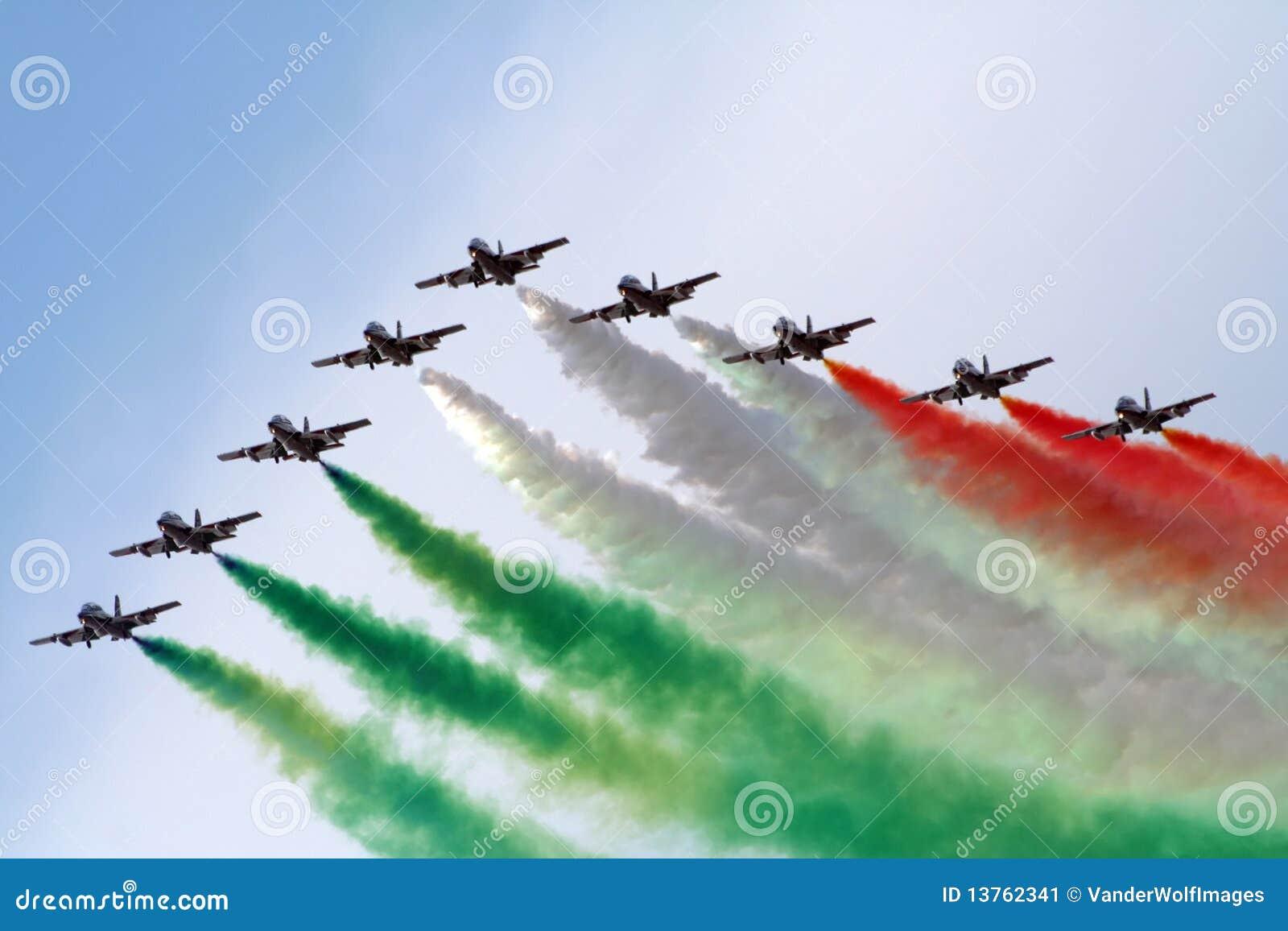 Frecce意大利小组tricolori