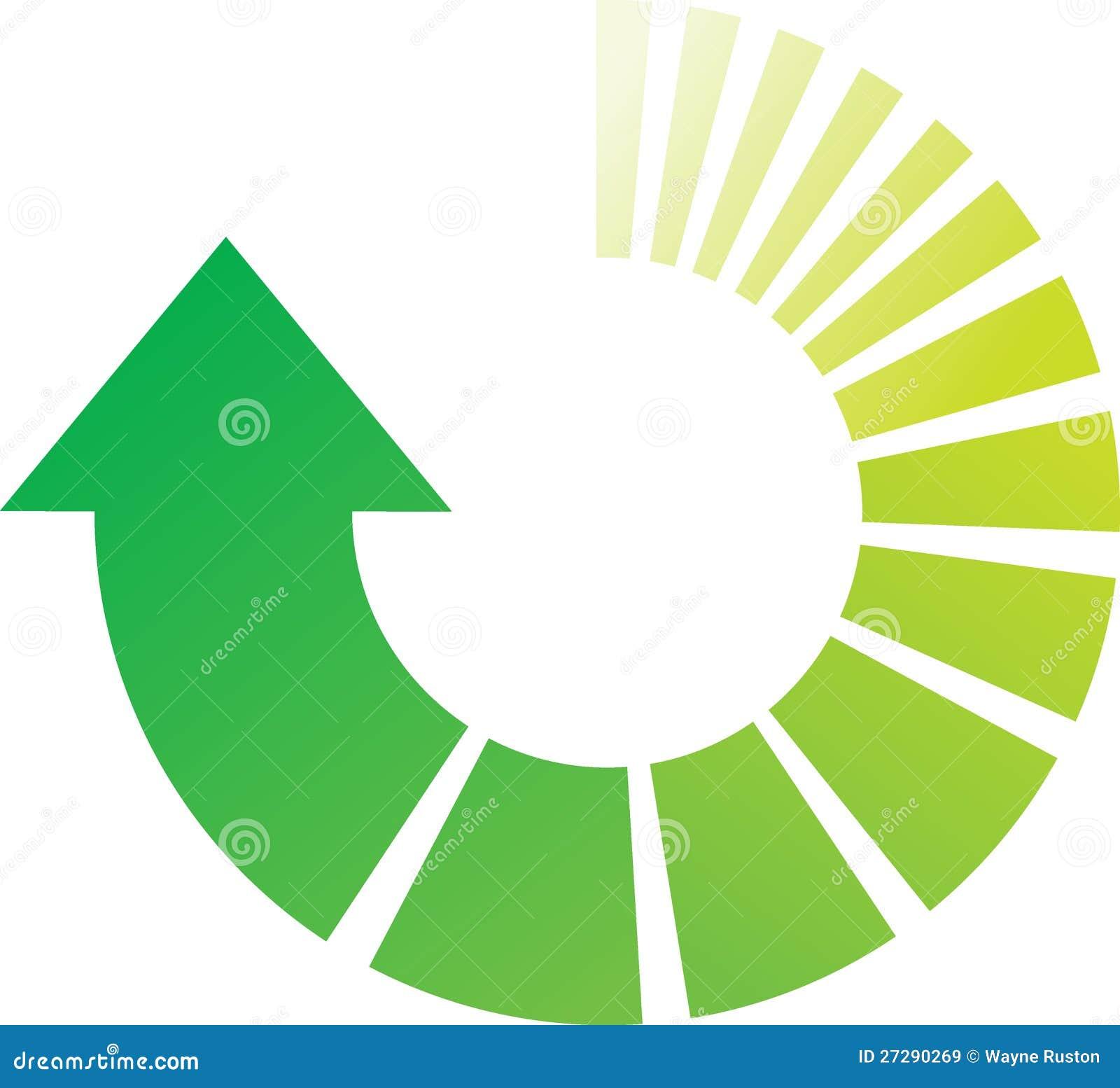 Frecce trattate verdi