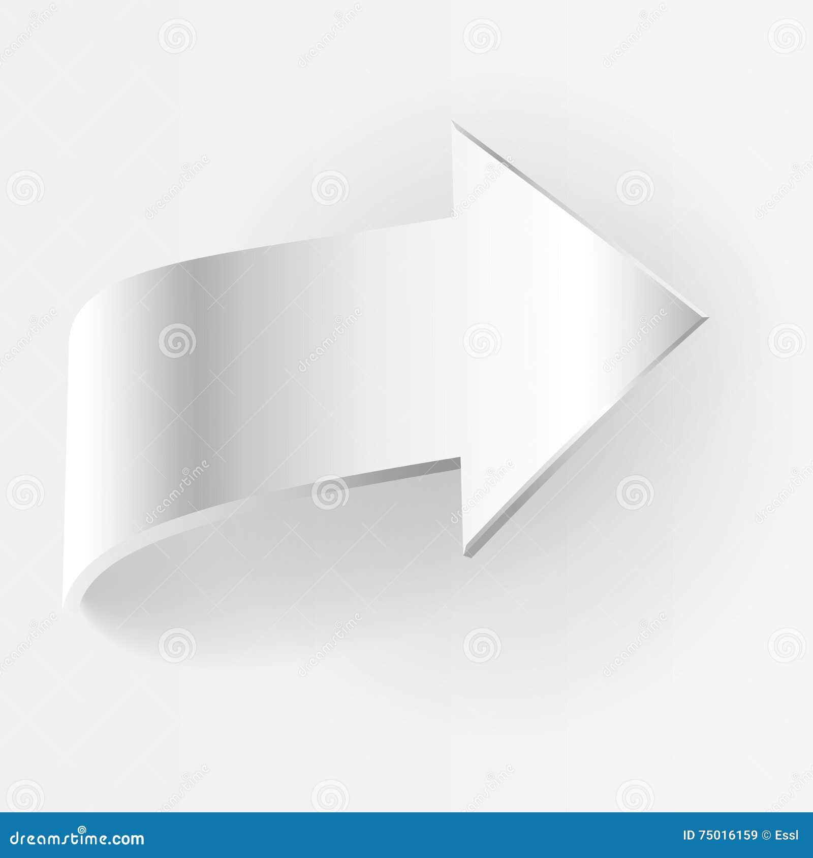 Freccia bianca Illustrazione di vettore