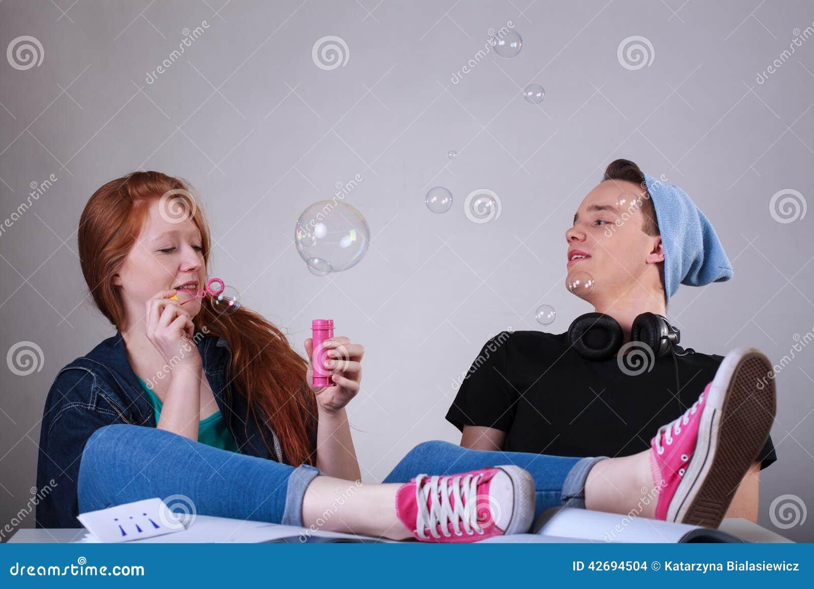 Blasen in der schule