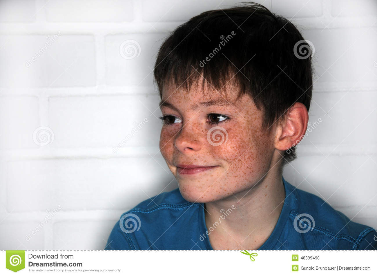 Freckles Stock Photo Image 48399490