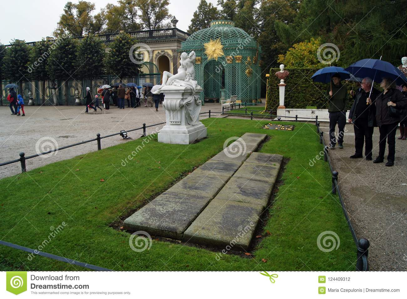 Frederick the Great grave with his beloved dogs in Sanssouci Potsdam