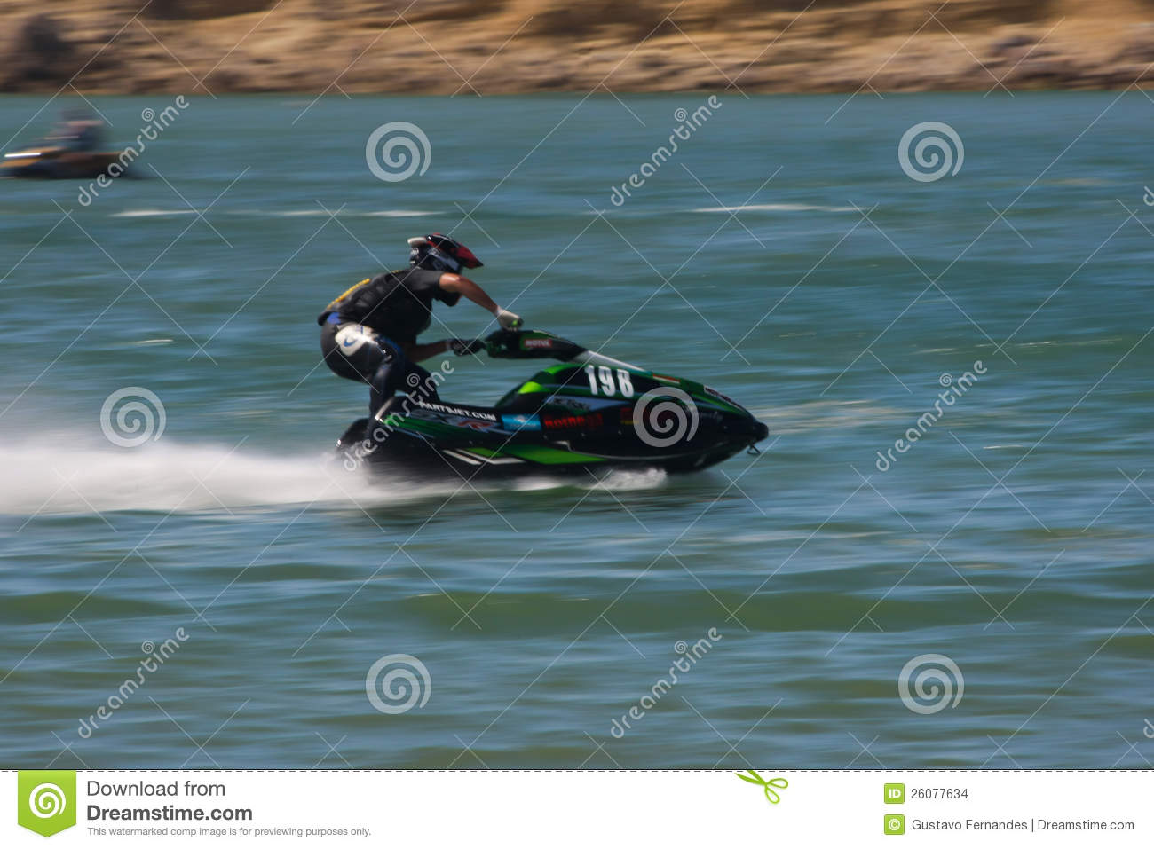 frederico gallego in 198 gran prix of jet ski editorial stock image image 26077634. Black Bedroom Furniture Sets. Home Design Ideas