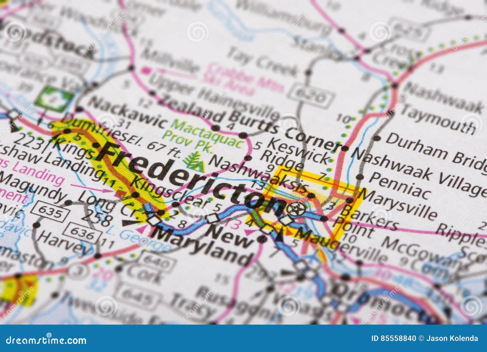 Fredericton New Brunswick Canada Stock Photo Image Of Atlas