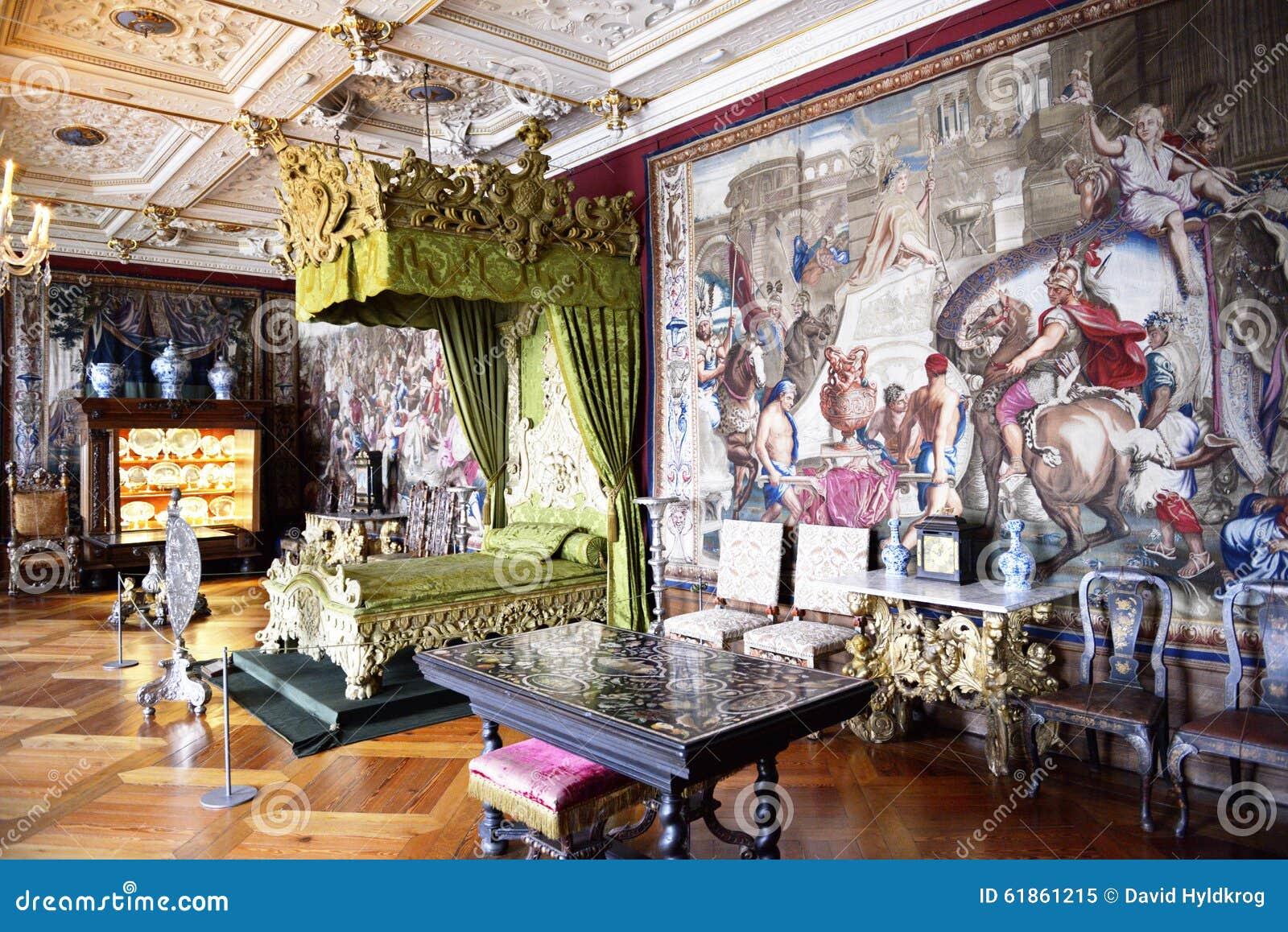 Frederiksborg-Schlitz (Schloss) Das Schlafzimmer Stockbild - Bild ...