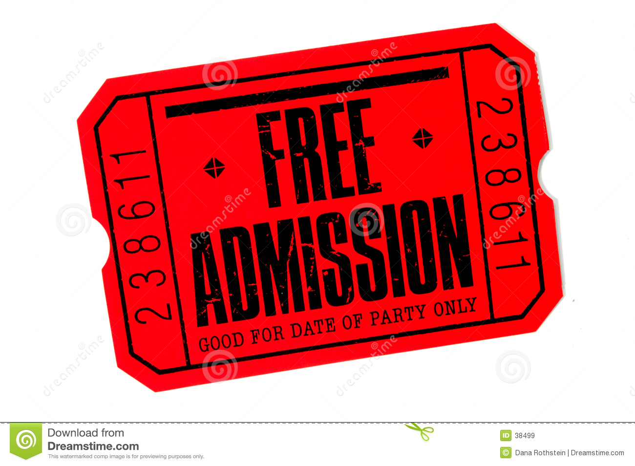 free admission ticket clipart