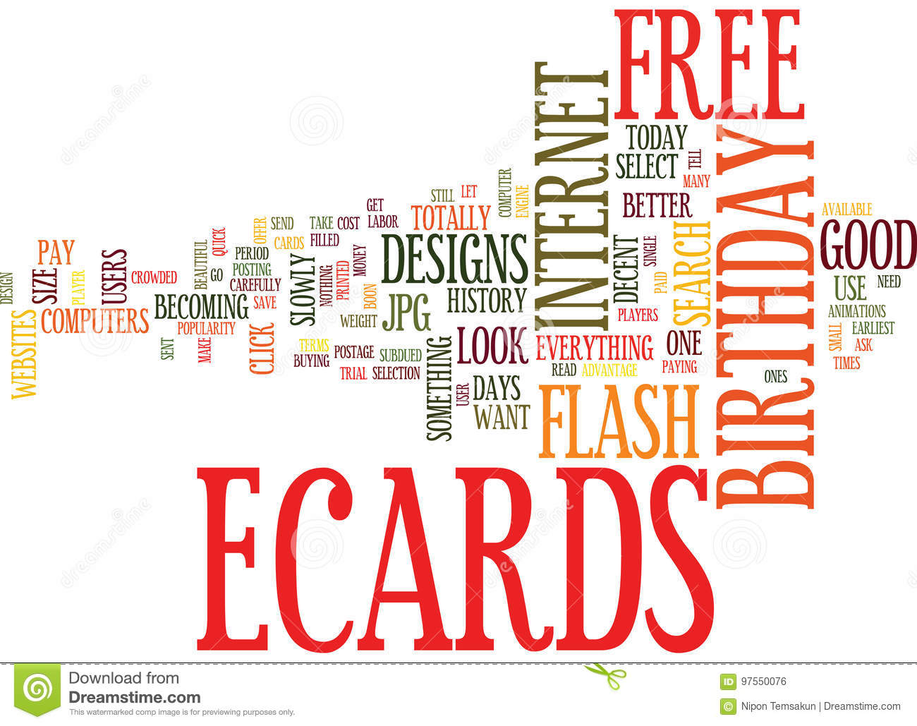 Free Birthday Ecards How To Search Text Background Word Cloud Concept