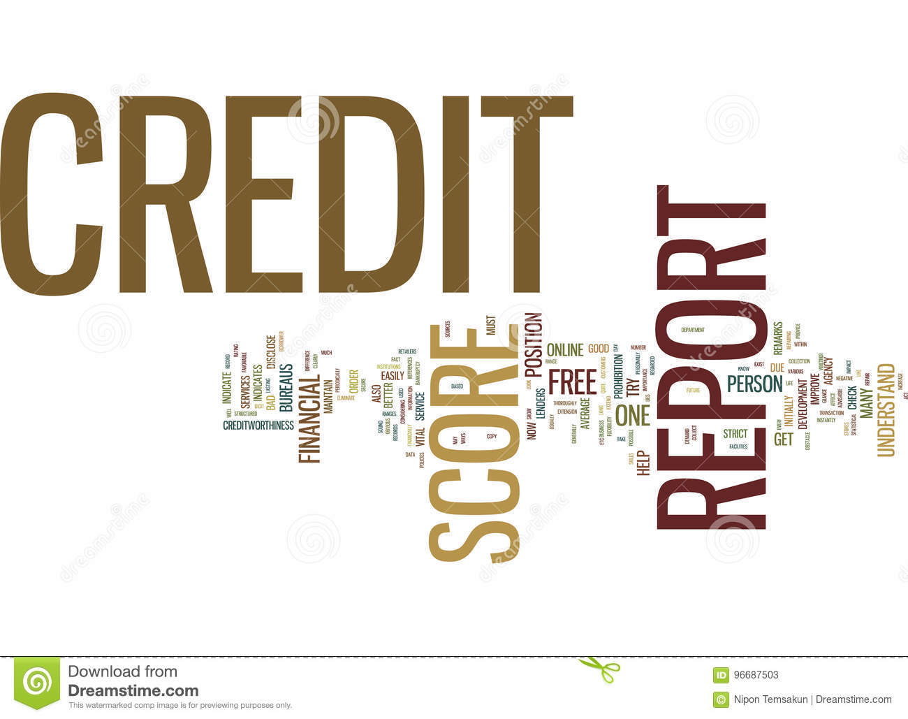 Free Credit Reports >> Free Credit Report And Credit Score Text Background Word
