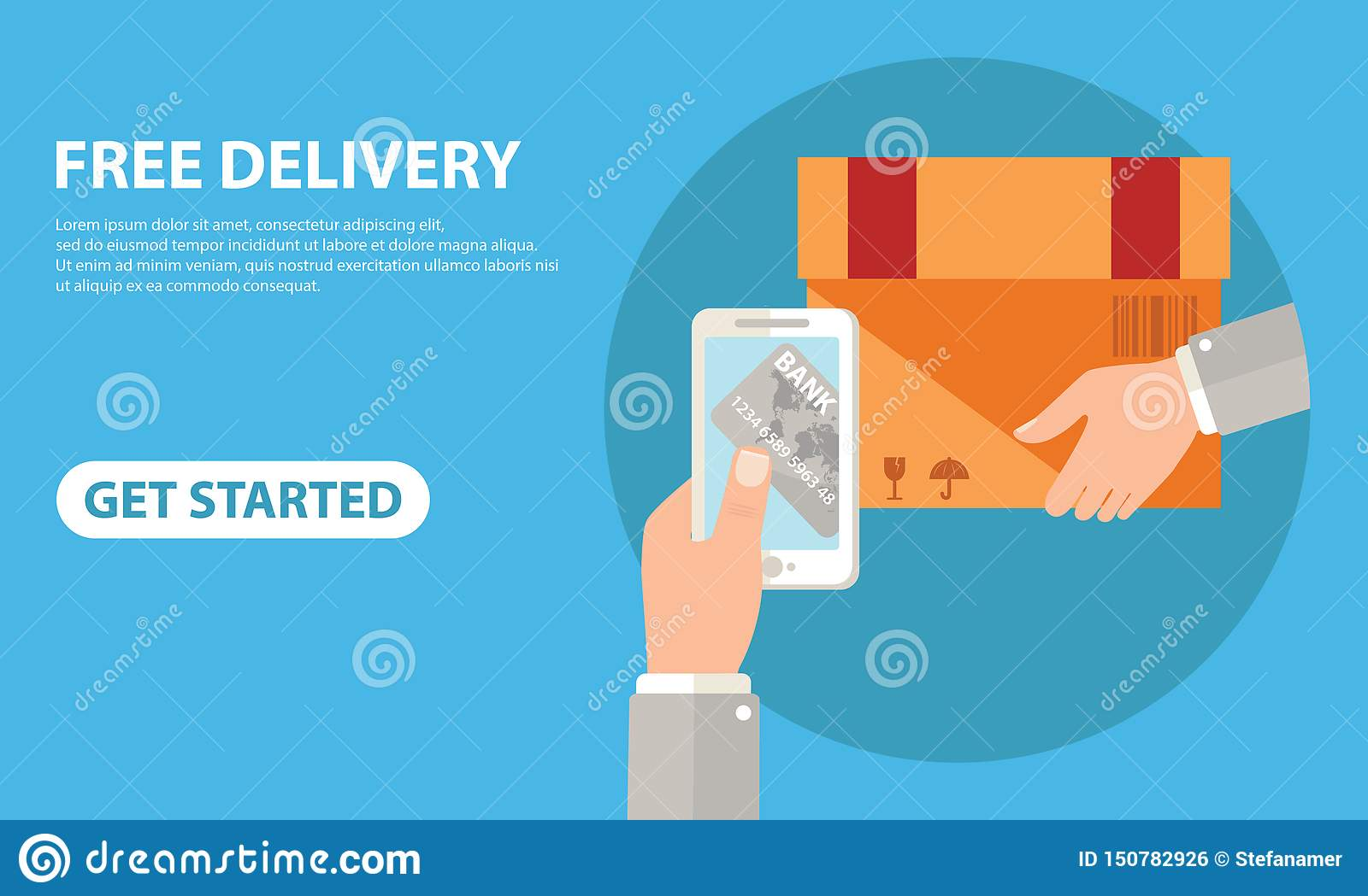 free delivery for clients how pay by credit card via
