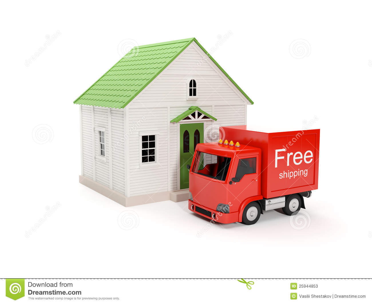 Free delivery to your home stock illustration for To home com