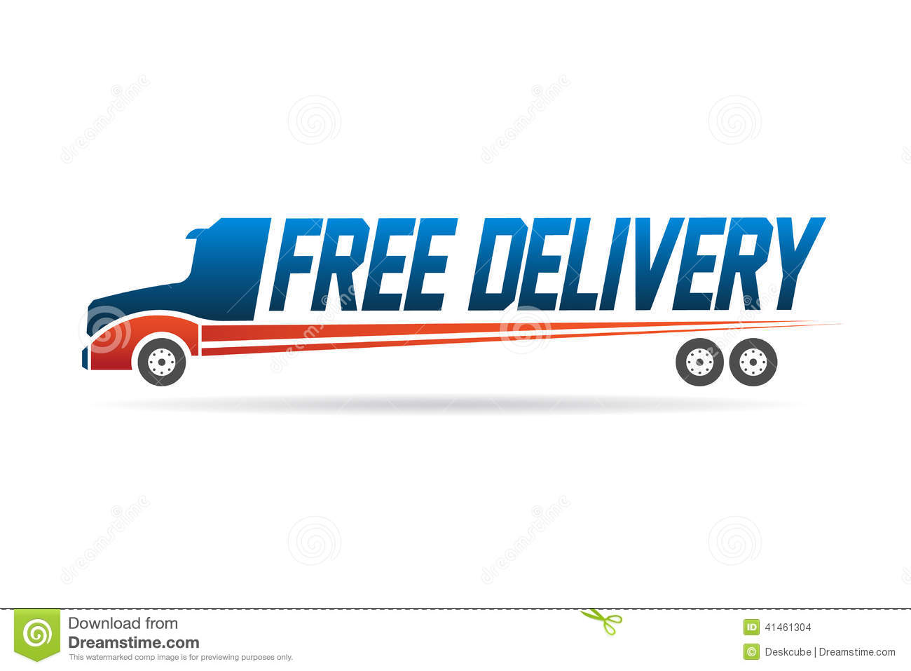 Free Delivery Truck Image Logo Stock Vector Image 41461304