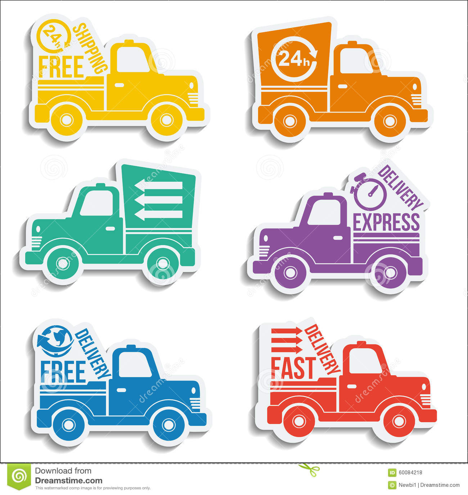Logistics Icon, Fast Truck Delivery Logo Concept Cartoon ...