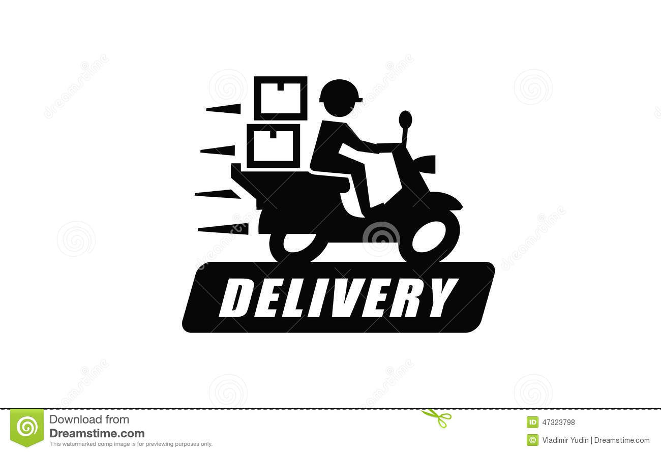 Free Delivery Stock Vector Image 47323798