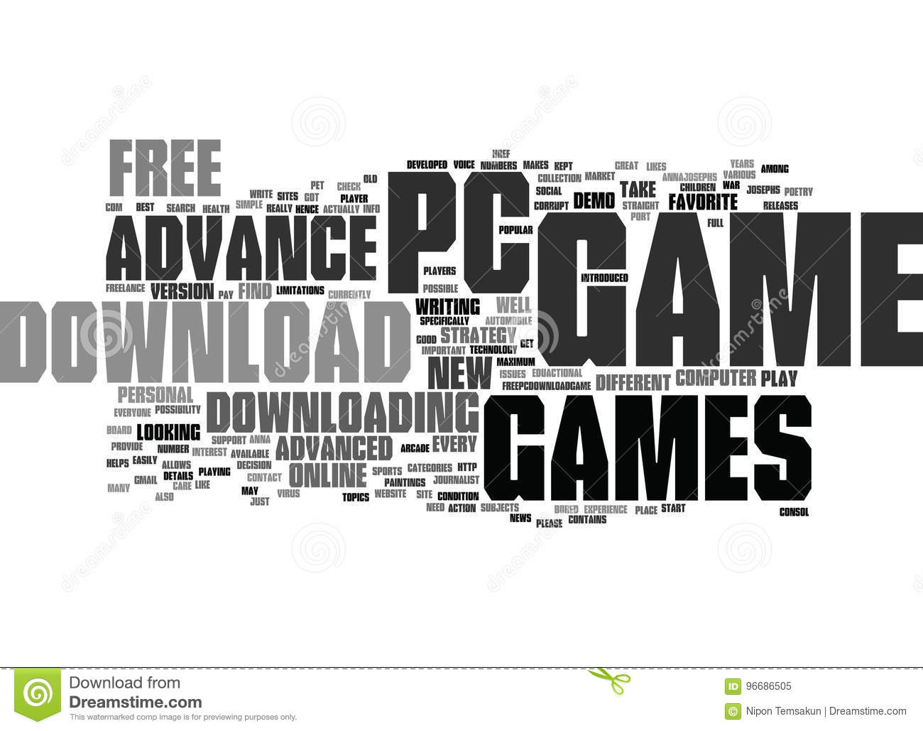 Free Download Advance Pc Game Text Background Word Cloud