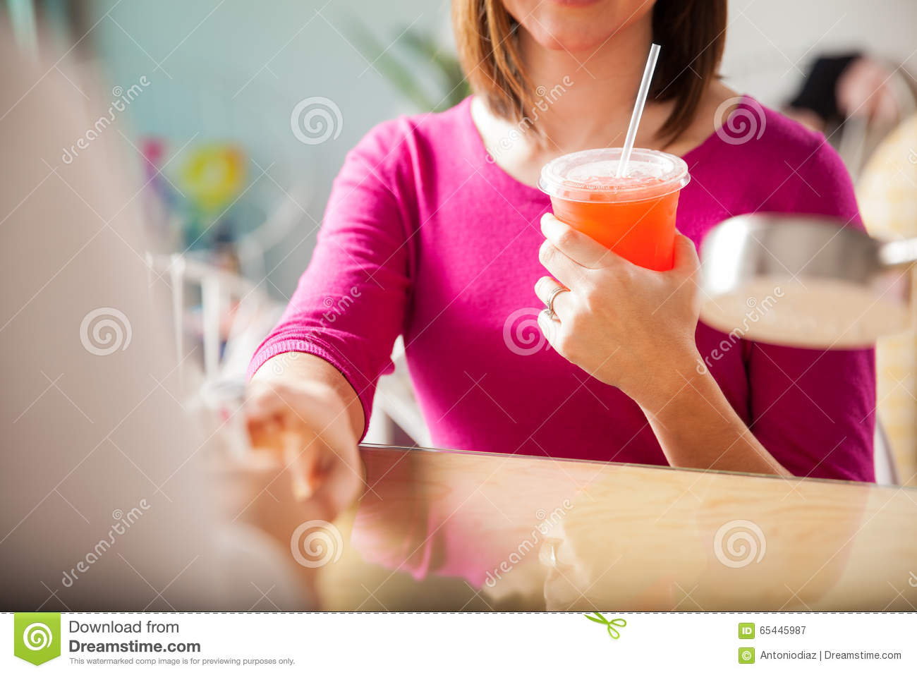 Free Drinks At A Nail Salon Stock Image - Image of client, salon ...
