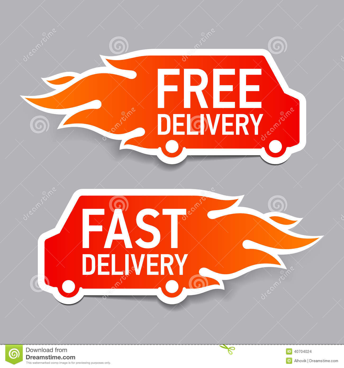 Shipping Delivery: Free And Fast Delivery Labels Stock Vector