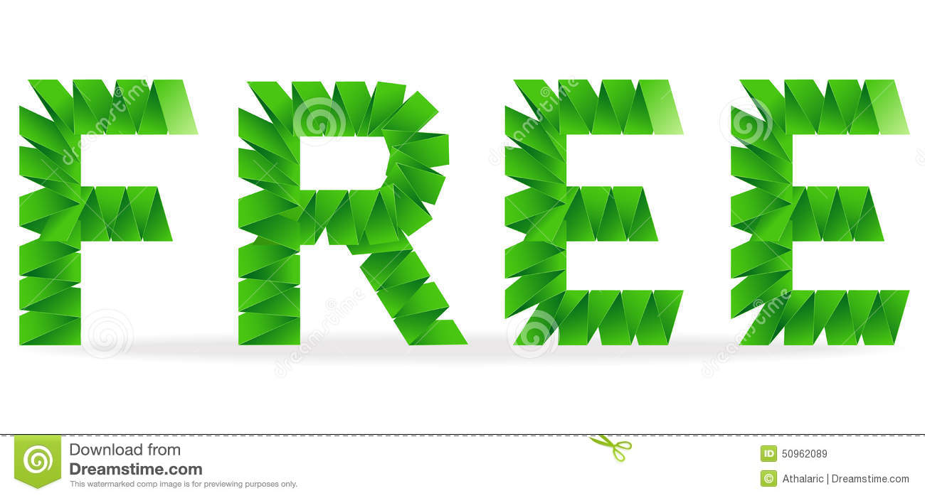 free folded paper sign stock vector illustration of green 50962089