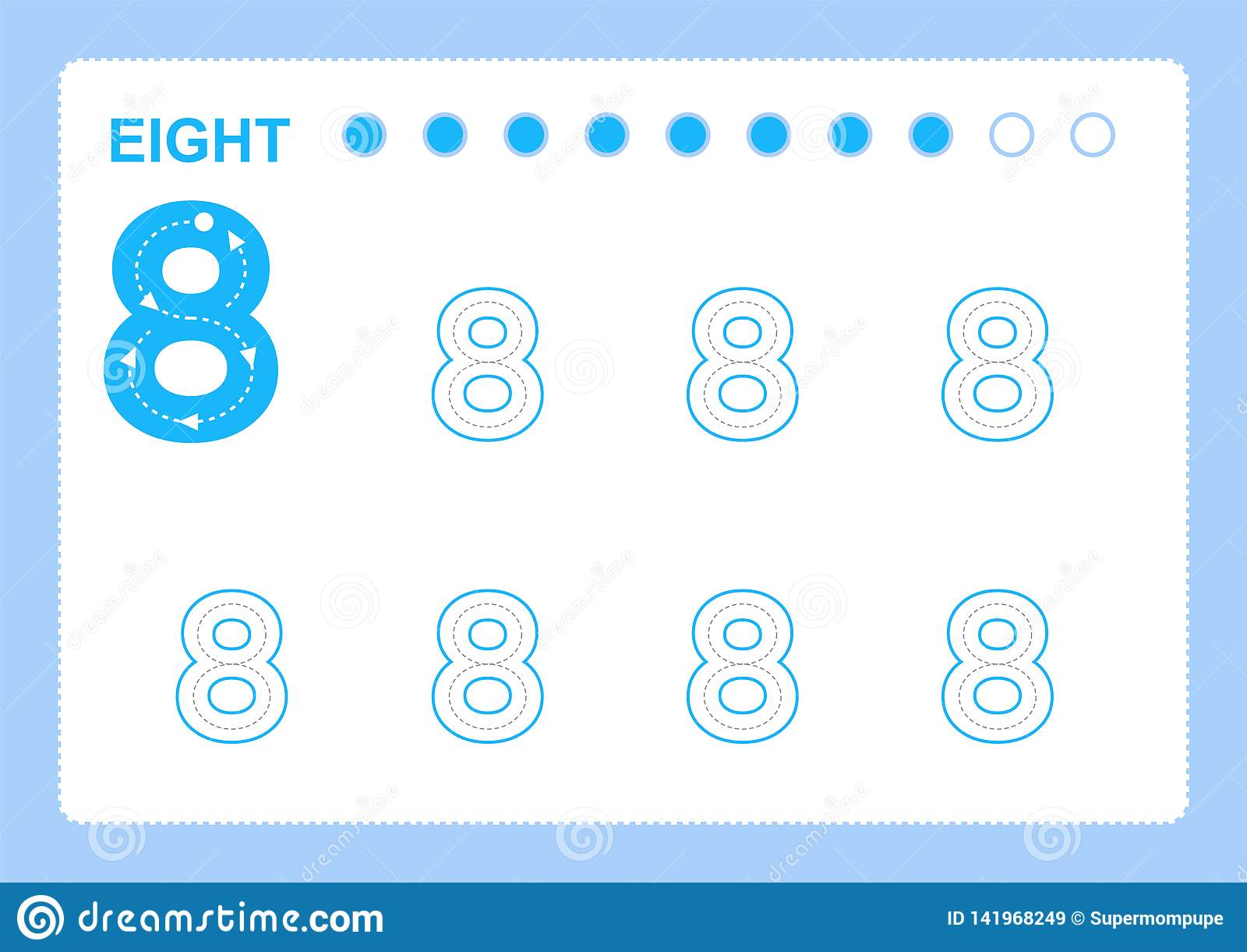 Free handwriting pages for writing numbers Learning numbers, Numbers tracing worksheet for kindergarten
