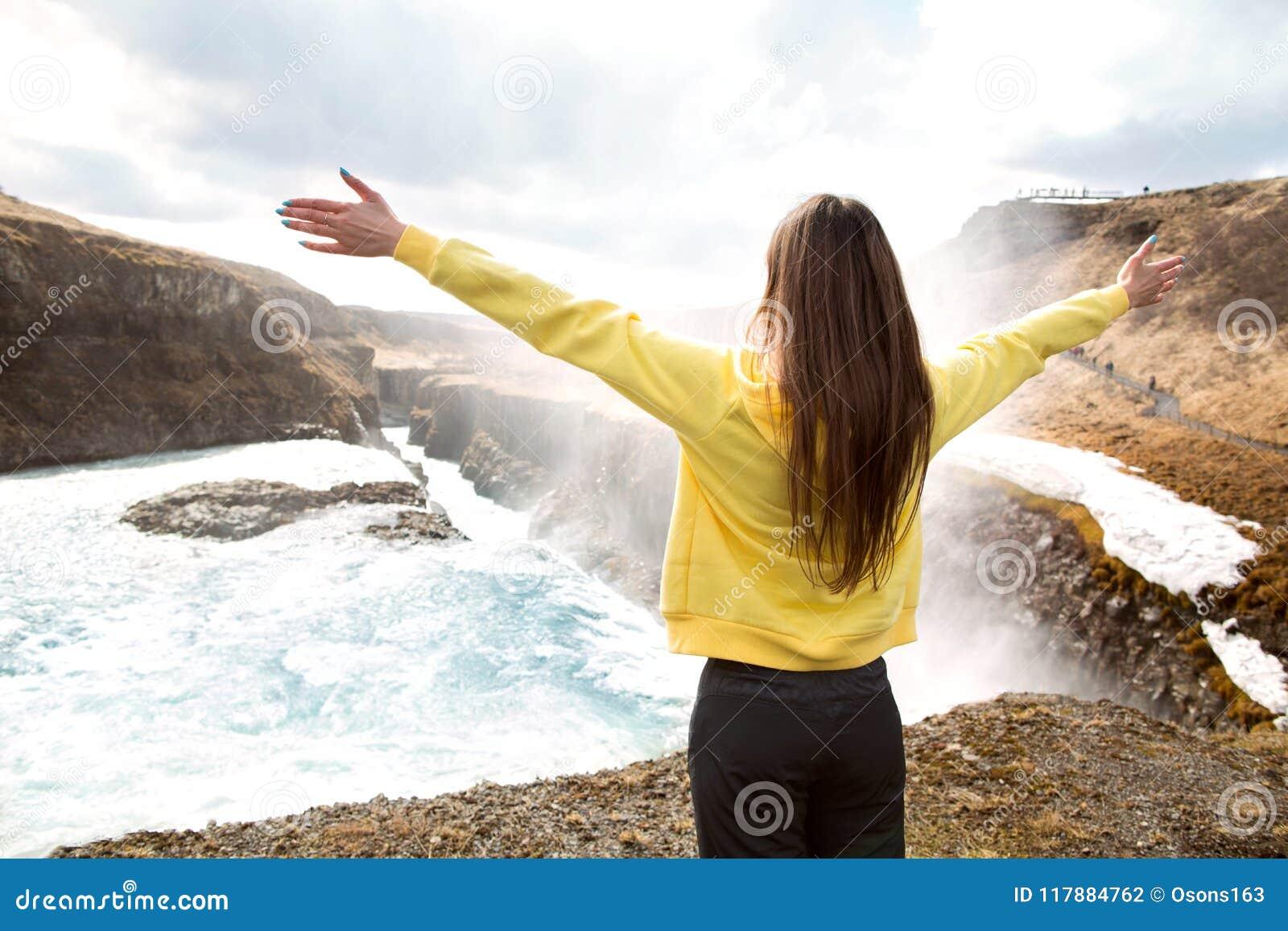 Free Happy Woman Enjoying Nature Beauty Girl Outdoor Freedom C Stock Photo Image Of Nature Active 117884762