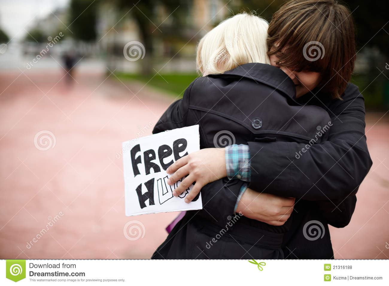 Free Hugs from Russia editorial stock photo. Image of ...
