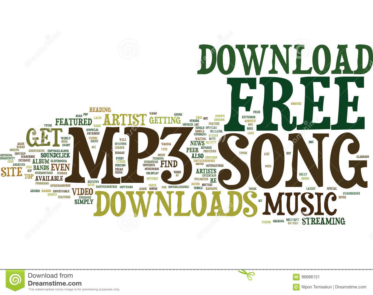 Free Mp3 Song Download Text Background Word Cloud Concept