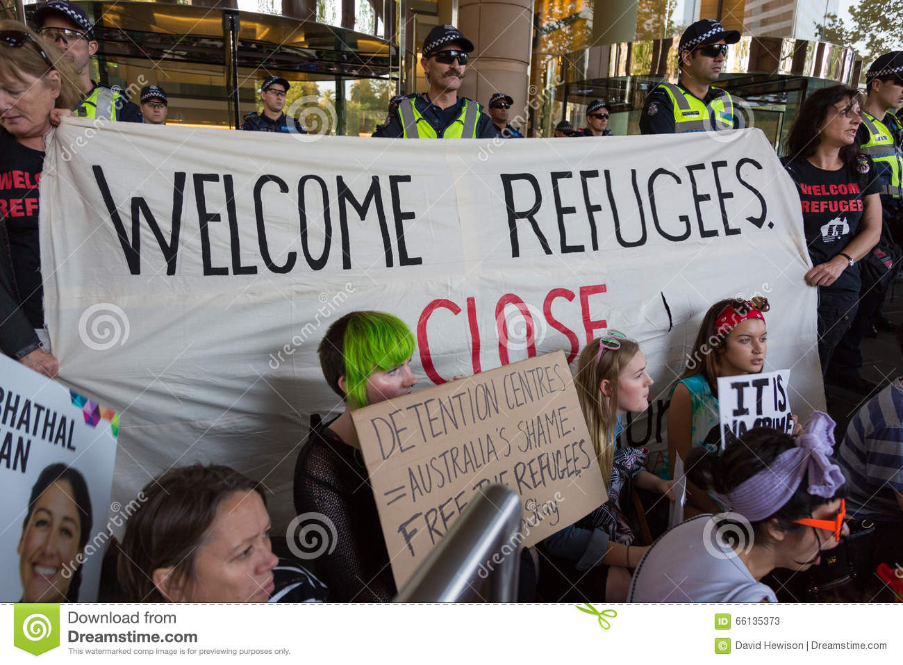 Free Refugee Rally - Don t Send Them Back!