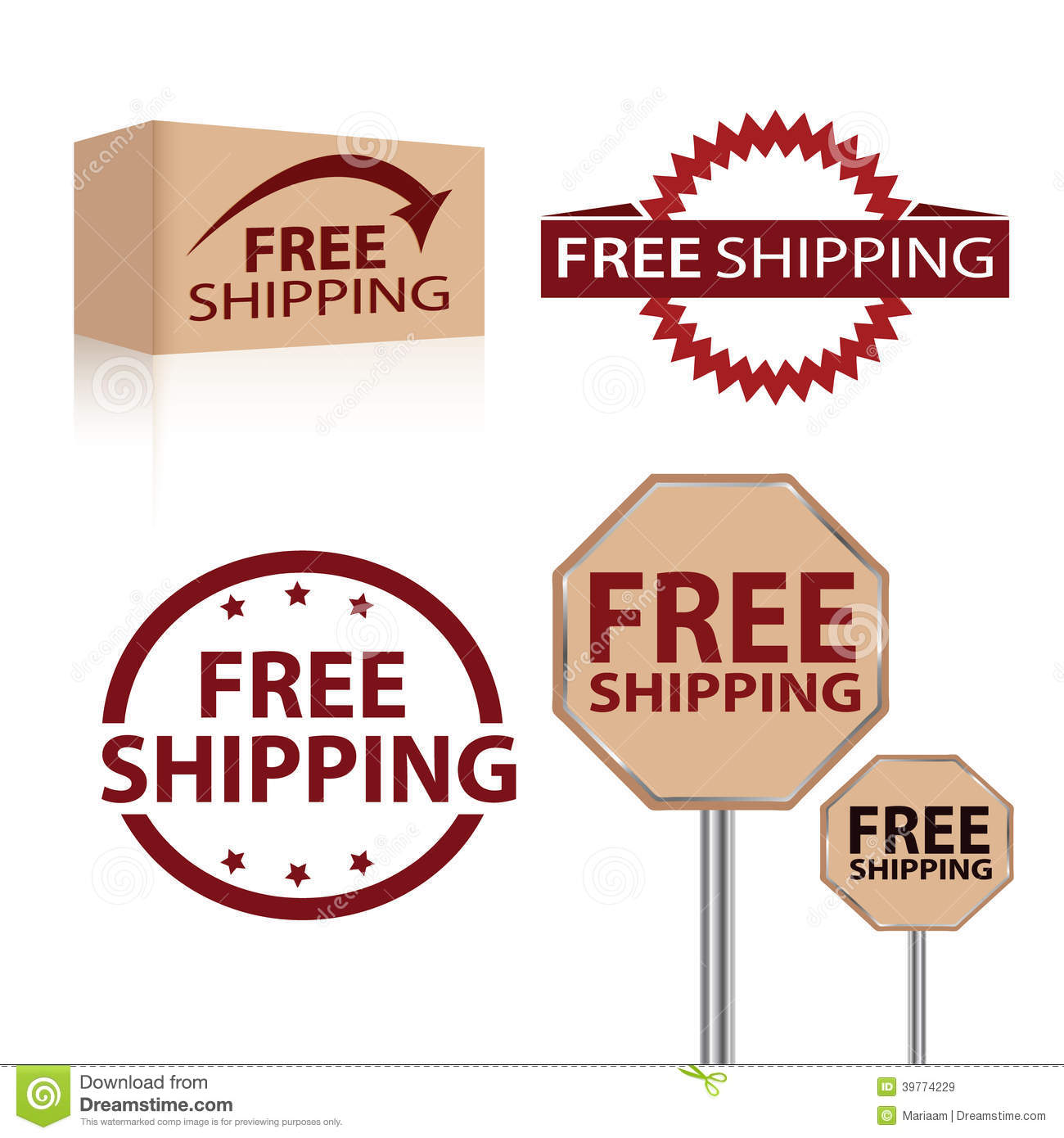 Free Shipping Stock Illustration - Image: 39774229