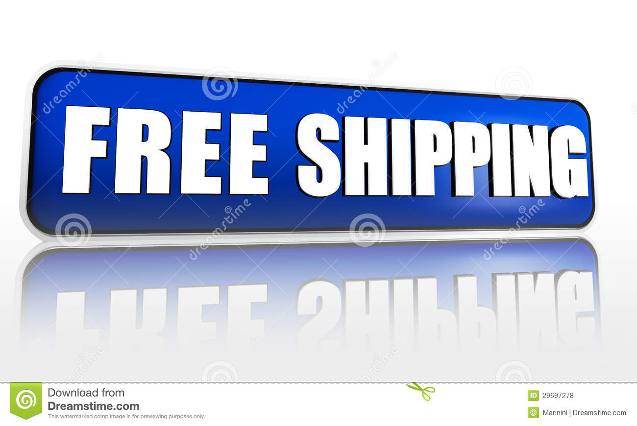 free shipping blue banner stock illustration image of