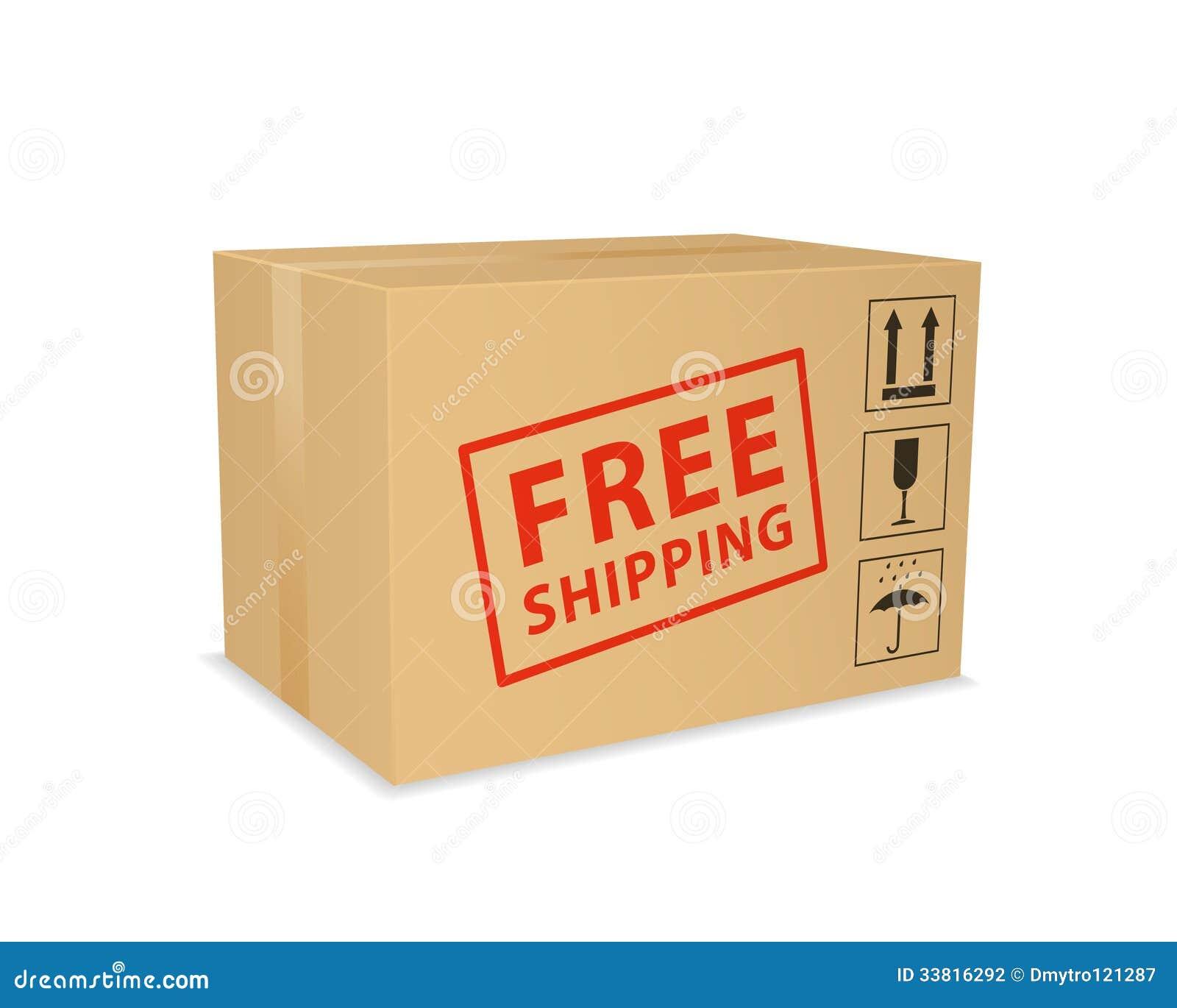 Free Shipping Box. Stock Photography - Image: 33816292