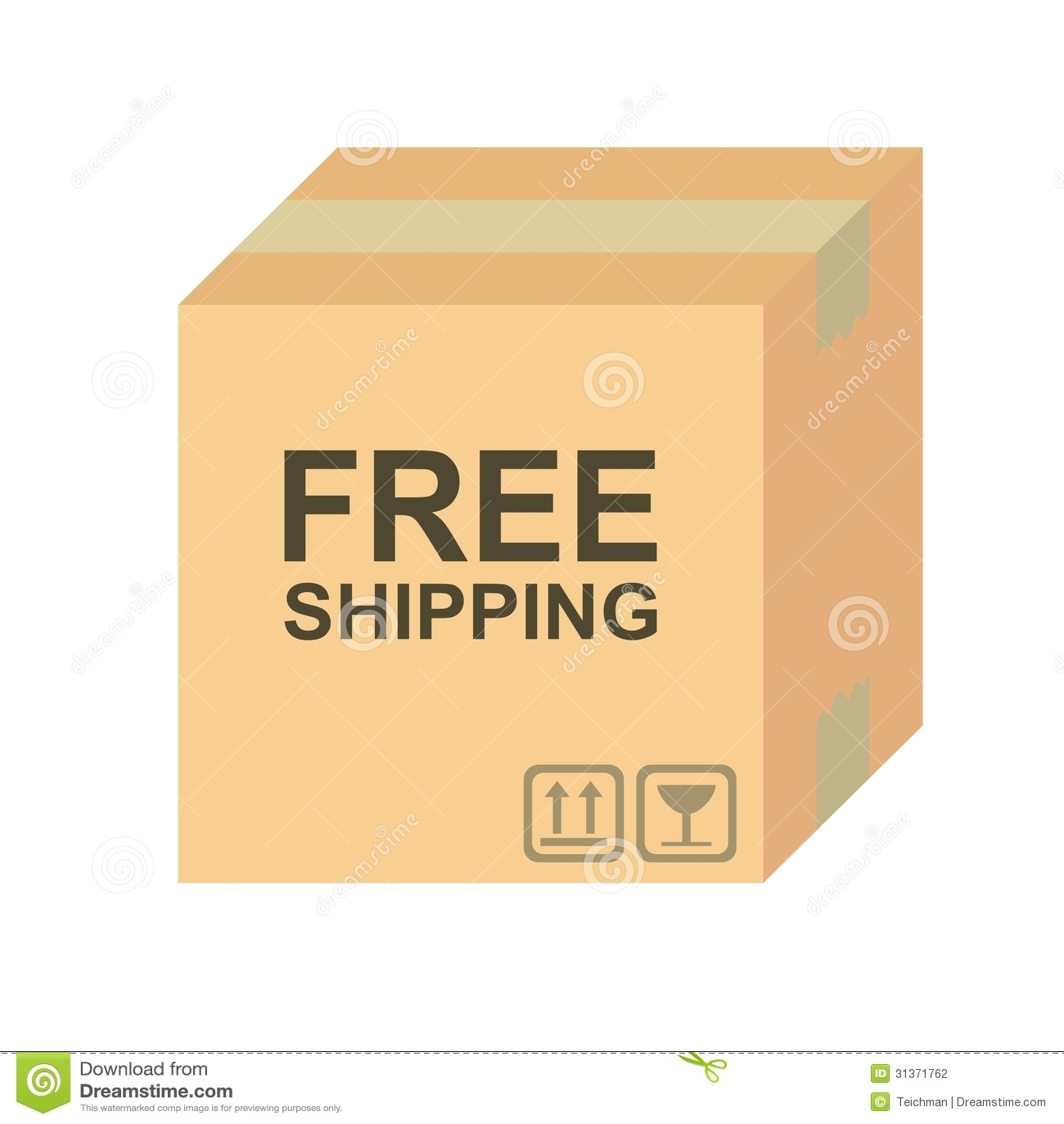 Free Shipping Box Stock Photography - Image: 31371762