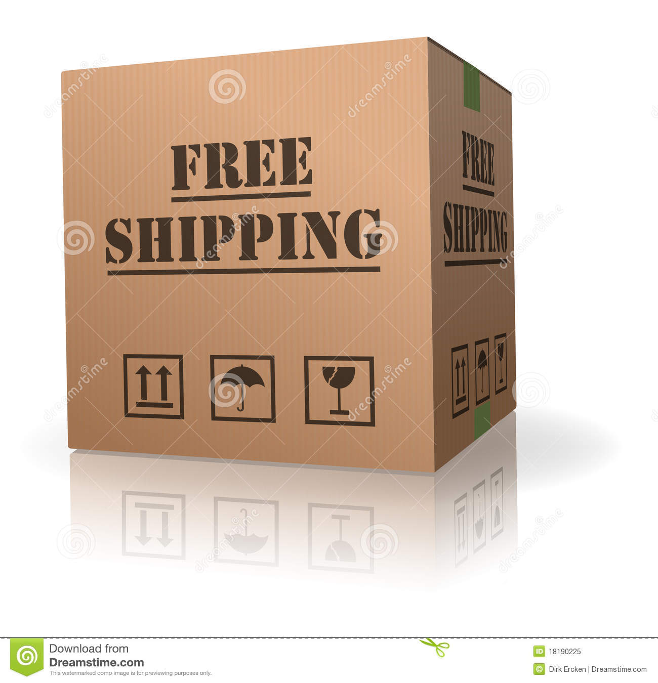 Download Free Shipping Cardboard Box Package Delivery Stock Illustration - Illustration of carton, online: 18190225